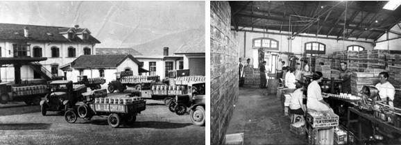 Imágenes de archivo del proceso de fabricación y transporte