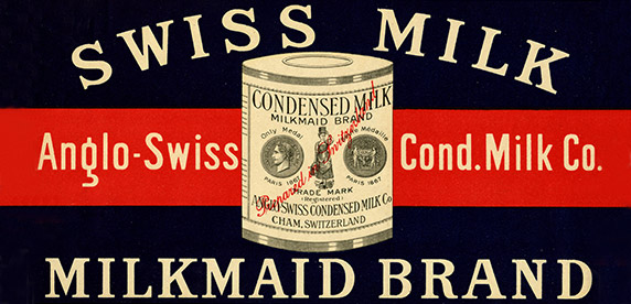Cartel histórico de Anglo-Swiss Condensed Milk Company