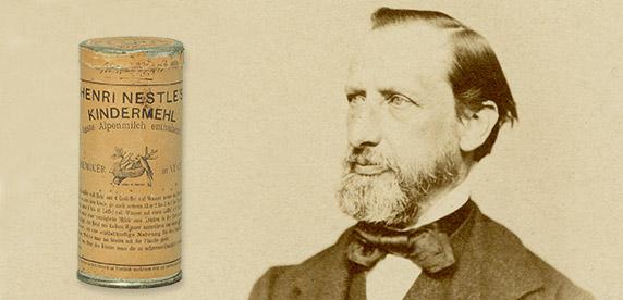 Henri Nestlé, lanza su 'farine lactée'