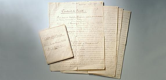 Documentos de la venta de la fábrica de Vevey