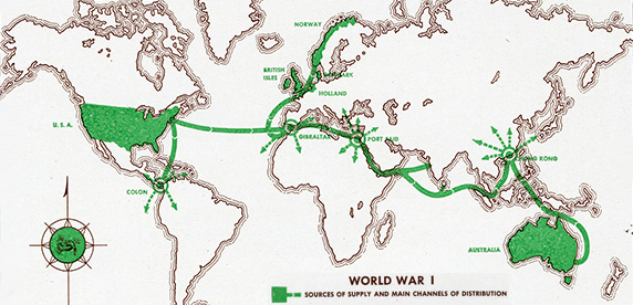 Mapa de la guerra mundial