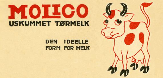 Cartel de la empresa láctea noruega Egron