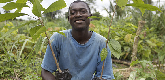 Imagen de agricultor en Cocoa Plan